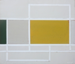 Heinrich Hugentobler, Ohne Titel, 46 x 54 cm,Industriefarben auf Holz, Copyright the artist
