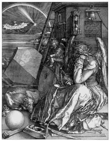 Albrecht Dürer,Melencolia I,1514, Kupferstich, National Gallery London, Courtesy Otto Schäfer Stiftung der Stadt Schweinfurt
