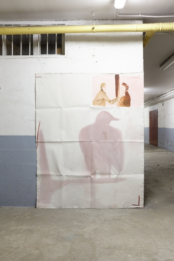 """Emmanuelle Castellan,""""is that true?"""", Öl und Acryl auf ungespannter Leinwand, 200 x 150 cm, 2020"""