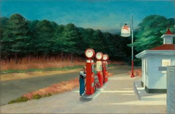 Edward Hopper · Gas, 1940, Öl auf Leinwand, 66,7x102,2cm, The Museum of Modern Art, New York, Mrs. Simon Guggenheim Fund ©ProLitteris