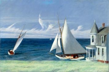 Edward Hopper, The Lee Shore, 1941, Öl auf Leinwand 71,7x109,2cm, The Middleton Family Collection ©ProLitteris.Foto: Photo Art Resource/Scala, Florence