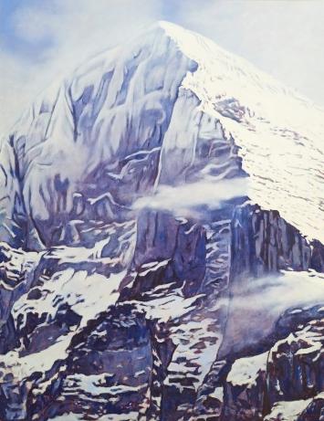 Eigernordwand, Oel auf Leinwand, 200 x 155 2020,