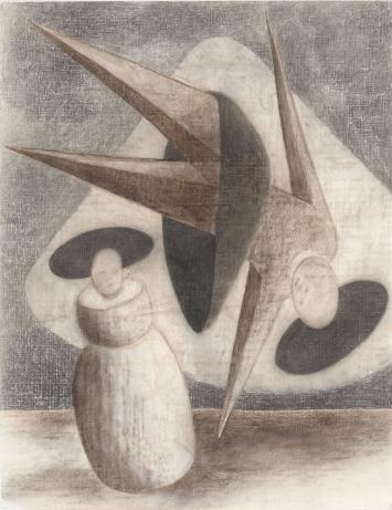 Peter Emch, o.T., Kohle auf Papier, 90 x 70 cm, 2017-2018