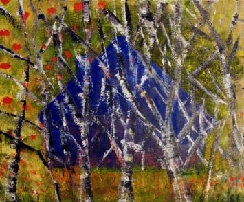 Diane Chappalley, 2018, Entre toi et moi, oil on linen, 45x 55cm