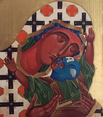Die Jungfrau und der Kapitän, 28 x 28 , 2020