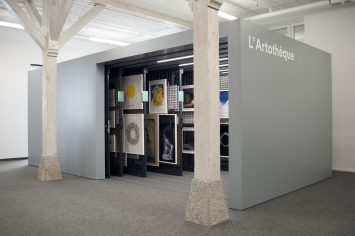 Espace de l'artothèque, Les Arsenaux, Sion © Photo Lucien Grandjean, 2017