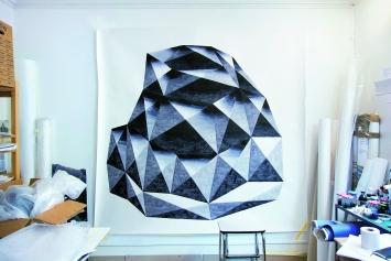 Element, 2013, Tusche und Aquarell auf Papier, 209x200cm, Privatsammlung, Atelier Rue Dautancourt, Paris ©ProLitteris
