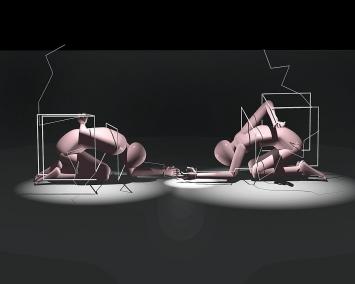 Yves Netzhammer · Die Subjektivierung der Wiederholung, Projekt A, 42'24'', Still, Biennale Venedig, Schweizer Pavillon, 2007