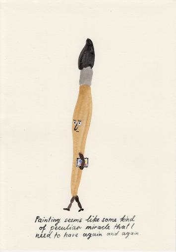 Painting, 2020, Gouache auf Papier, 29,7x21cm