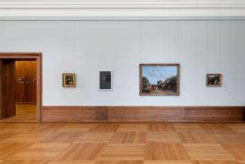 Untitled (Read Red), 2008, Wortvitrine, Ausstellungsansicht Kunst Museum Winterthur ©ProLitteris.Foto: Reto Kaufmann