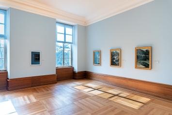 Untitled (Piss off I'm a fountain!), 2004, Wortvitrine, Ausstellungsansicht Kunst Museum Winterthur ©ProLitteris.Foto: Reto Kaufmann