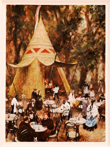 Adolf Menzel, Indianer-Café auf der Wiener Weltausstellung 1873, Gouache auf Papier, 1873, Sammlung Johann Jacobs Museum, alle Aufnahmen Courtesy Johann Jacobs Museum