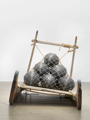 Empire, 2019, Ausstellungsansicht ‹Towards No Earthly Pole›, 2020, Aargauer Kunsthaus, Aarau  ©ProLitteris.Foto: Jens Ziehe