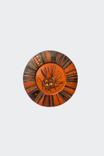 Wisdom, 1974, Holz, Farbe, Lack, 40x39cm, Omooba Yemisi Adedoyin Shyllon Art Foundation, Dauerleihgabe Yemisi Shyllon Museum of Art at Pan Atlantic University in Ibeju, Lekki, Lagos, Nigeria.Foto: Adolphus Opara