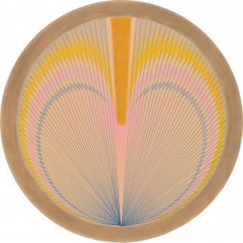 Emma Kunz · Werk Nr. 172, undatiert, Farbstift auf Papier, ø68, (Blattmass) ©Emma Kunz Stiftung.Foto: Conradin Frei