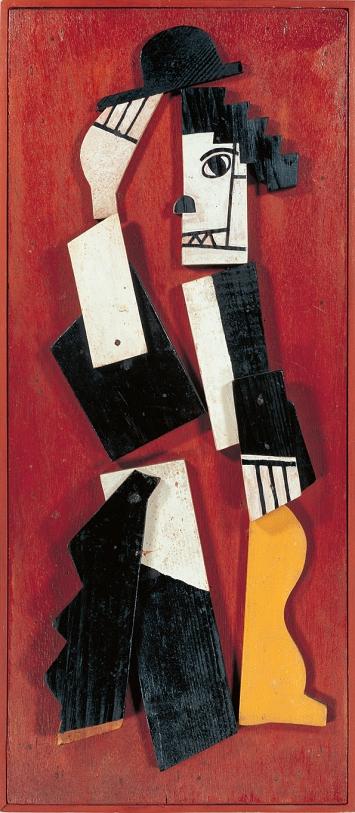 Fernand Léger · Charlot cubiste, 1924, bois peint cloué sur contreplaqué, 73x33x6cm ©ProLitteris