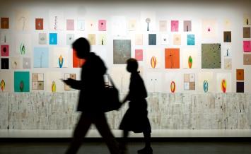 Installation (aus dem Werkzyklus ‹The Fictional Plant Diversity›), 2020–2021, Ausstellungsansicht, ‹Pour un herbier– 7 expositions printanières›, CHUV, Lausanne, 2021