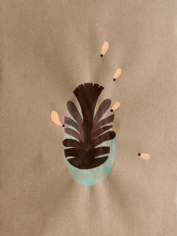 Zeichnung (aus dem Werkzyklus ‹The Fictional Plant Diversity›), 2019, Aquarell auf Papier, 55x41cm