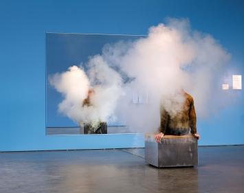 Smoking Bench, 2012, Installationsansicht Bonniers Konsthall, 2013.Foto: Per Kristiansen