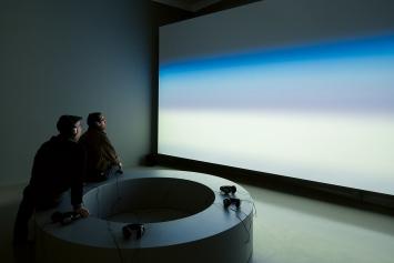 Voyages atmosphériques (Concerning the Blueness of the Sky), 2016, Ausstellungsansicht Centre culturel suisse Paris
