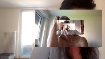 Regula Brassel · Seine braunen Locken, 2020, interaktive Medienreflexion
