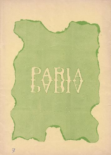 Anonimo, Paria N.7, 1971
