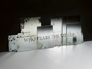 Sandrine Pelletier · Who Fears the Other, 2017, specchi, 85 x 220 cm