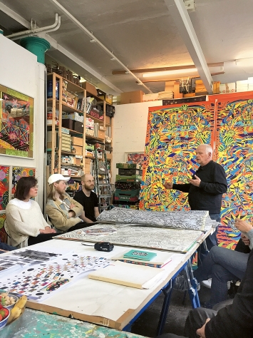 Claude Sandoz, Atelier Luzern, 5.5.2018.Foto: Le Foyer