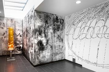 Twin Earth, 2019, Innenansicht, Ausstellungsraum im Bürobereich.