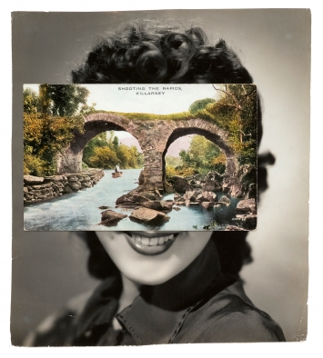 John Stezaker · Mask (Film Portrait Collage) CLXXIII, 2014, Collage 20 x 17,6 cm