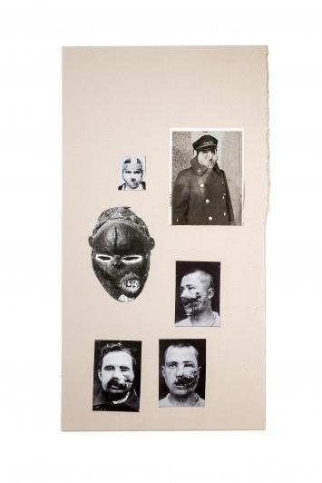 Kader Attia · Untitled, 2018, Xerox-Fotokopien auf Karton, 80,1x43,2cm, Courtesy Galerie Nagel Draxler, Berlin/Köln ©ProLitteris