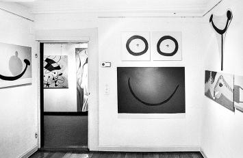 Ausstellungsansicht mit Werken von Klaudia Schifferle ©ProLitteris