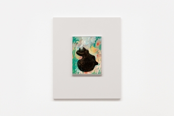 Bidule pour Talou VII, 2021, Öl auf Holz in Holzrahmen, 60x50cm
