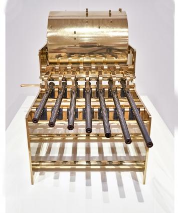 Disarm (Mechanized) II, 2014, Installationsansicht Museum Tinguely, Courtesy Lisson Gallery.Foto: Daniel Spehr