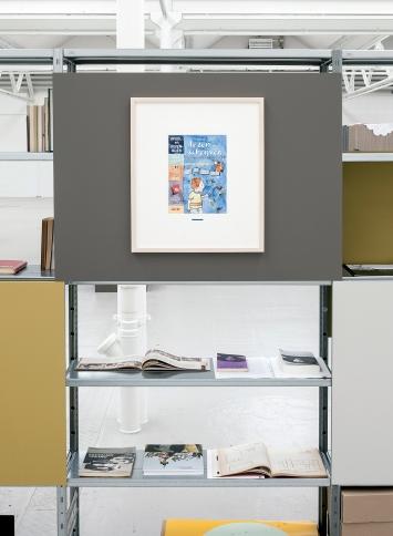 Die Muttersprache (Holländisch/Niederlande), 2012, Aquarell, 55x47,5cm, Installationsansicht ‹Studio Eine Phantastik›, Shedhalle Zürich, 2018 ©ProLitteris