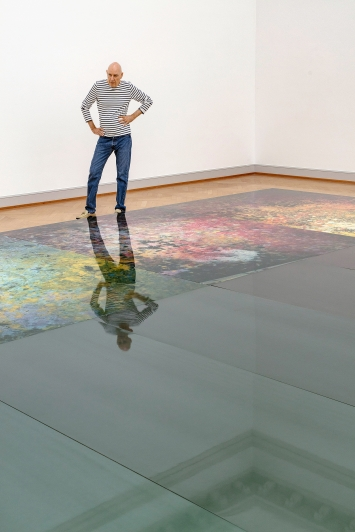 Adrian Schiess, Oberlichtsaal, Kunstmuseum St.Gallen, 2020; Malerei, 1993/2020.Foto: Stefan Rohner