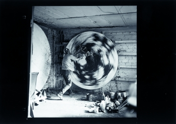 Spinpainting, Atelier in Paris, 1962 © ProLitteris