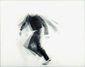 The Falling Man, 1969, drei Linsenrasterfotografien aus der Serie, je 26,5x33,5cm ©ProLitteris