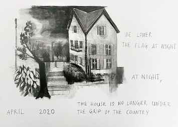 Marc Bauer · Untitled, 2020, Zeichnung, grauer Farbstift und Lithografie-Stift auf Papier, 30x42 cm, Courtesy Peter Kilchmann, Zurich↗ www.marcbauer.net
