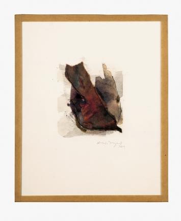 Miriam Tinguely · o.T., 2019, Aquarell auf Papier mit abgeklebten Rändern, 23x19cm