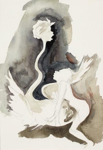 Untitled, 1997/98, Aquarell, Bleistift und Tinte auf Papier, 26x18,1cm, Sammlung Charlotte und Herbert S. Wagner III, Cambridge, Massachusetts