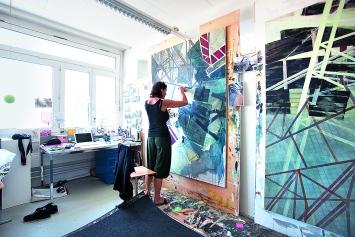 Studierende an der Hochschule Luzern – Design & Kunst.Foto: Filip Dujardin