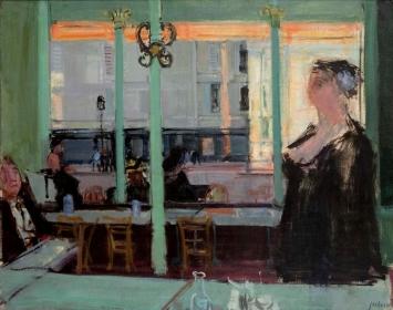 Rudolf Zender (1901–1988)Café du Châtelet, 1949Öl auf Leinwand73 x 92 cmKunstmuseum Olten