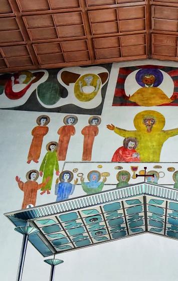 Ferdinand Gehr, grosses Chorwandfresko, Kirche St. Marien, Olten