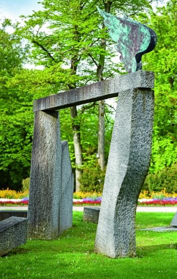 Flavio Paolucci, Passaggio tra le pietre, Friedhof Meisenhard, Olten