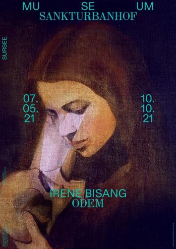 Irene Bisang, Odem, 2021 Acryl und Öl auf Leinwand,38 × 32 cm