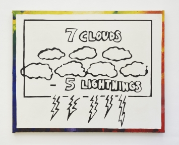 Gene Beery, ‹Clouds›, 1965, 104 x 129.5 cm, Acryl auf Leinwand. Courtesy the artist and Jan Kaps, Cologne. Foto: Mareike Tocha