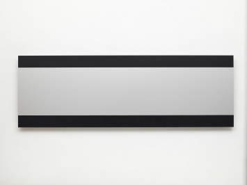 Frank Gerritz(*1964 Hamburg, lebt in Hamburg) Cinamascope I Definition of Light, 2012Ölwachsstift auf eloxiertem Aluminium60 x 180 cm