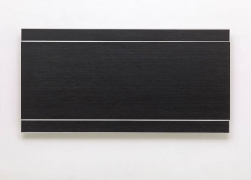 "Frank Gerritz(*1964 Hamburg, lebt in Hamburg) Temporary Ground, ""Perfect Example"", 2014Ölwachsstift auf eloxiertem Aluminium,60 x 120 cm"