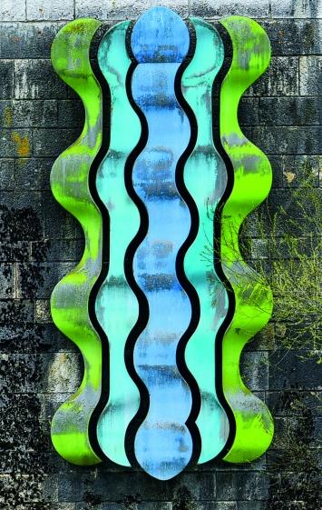 Gillian White, Gewässerschutzplastik, Stützmauer Ländiweg, Bahnhofquai Olten